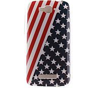 el caso suave de la bandera americana de diseño TPU para Alcatel One Touch pop c7