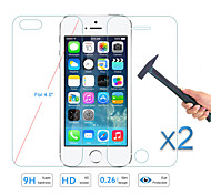 2PCS Front&Back Premium Tempered Glass Cover Film Screen Protector for iPhone 5 5S