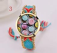 New  Wowen  Gold Watch New Arrival Rose  Designer Geneva Hand-Woven Wristwatch Handmade Braided Bracelet