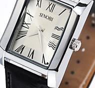 Men's Rectangle Dial Case Leather Watch Brand Fashion Quartz Watch(More Color Available)