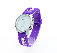 Unisex Strass Wahl candy Farbe Band Quarzuhr (Farbe sortiert)