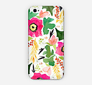 Safflower Greenery Pattern PC Phone Case Back Cover for iPhone 6 Case