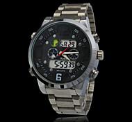 moda deportiva impermeables relojes hombres vestido analógico digital de acero completo reloj de buceo reloj de pulsera de reloj militar