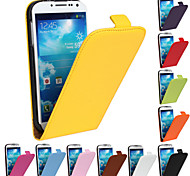 Genuine Leather Vertical Flip Magnetic Button Leather Case for Samsung Galaxy S4 I9500 (Assorted Colors)