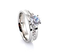 Жен. Классические кольца Любовь европейский Pоскошные ювелирные изделия Мода бижутерия Драгоценный камень Хрусталь Искусственный