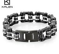 Kalen Men's Jewelry Stainless Steel Bicycle Chain Inspiring Bracelet