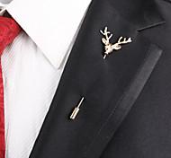 Европейская мода сплава голова оленя брошь