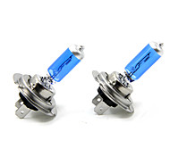 TIROL 2pcs Auto Headlight Bulbs Headlamp Bulbs Halogen H7 12V 55W Super White 5000K