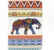 Elefanten-Muster PU-Leder Ganzkörper-Fall mit Einbauschlitz und stehen für Samsung Galaxy Tab 9.7 einen T550