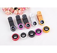 Universal 3in1 180°Fish Eye+0.67X Wide Angle+Macro Lens Kit for iPhone Nexus 4 HTC Samsung Sony etc.(Assorted Colors)