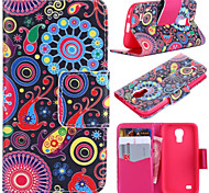 Colorful Circle Pattern with Card Bag Full Body Case for Samsung Galaxy S4 Mini I9190