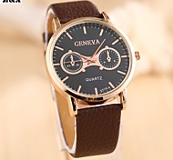 Men's Fashion Big Dial  Quartz Analog Leather Band Business Wrist Watch(Assorted Colors) Cool Watch Unique Watch