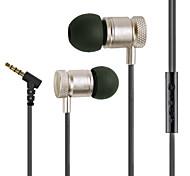 la parte superior de aleación de calidad 3.5mm de sonido envolvente de auriculares auriculares en la oreja para Samsung o cualesquiera