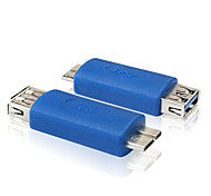 USB 3.0 Type A Female to Micro USB 3.0 Type B Male Connector Converter Adapter Blue