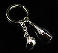 Alloy Mini Bowling Key Chain