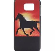 YMX-rood en paard patroon ontwerp patroon beschermende harde case voor samsung galaxy s6 g9200