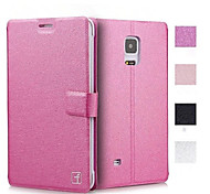 Smooth Silk Pattern with Card Bag PU Full Body Case for Samsung Galaxy Note Edge (Assorted Color)
