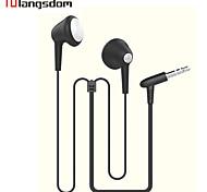 Langsdom LS-15 Flat  Earphone 3.5mm In-Ear earbuds  for Music Mobile Phone Headset