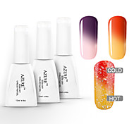 azur 3 pièces / lot tremper hors de longue durée gel uv nail art changeant de couleur de vernis à ongles (12ml, n ° 22 + 23 + # # 24)