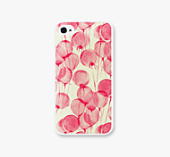Red Balloons Pattern PC Phone Case Back Cover for iPhone4/4S Case