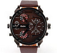 Dual-Movt Big Dial Japan Sport Military  Relogio Masculino Stainless Steel Strap Men's Sport Watch