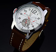 Men's BRAND Quartz Watch Business Man Wrist Watches Fashion Leather Military Army Clock Sport Leisure Watch