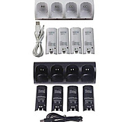 Ultra High Capacity 4-pack Rechargeable AA Batteries & Charger for Nintendo Wii Remote Controller