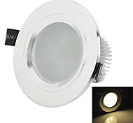 hésion hs03003 3w 270-330lm 3000k / 6000k lumière blanche / blanc chaud led lampe spot de plafond - argent (86 ~ 265V)