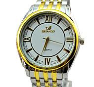 banda de aleación de reloj de vestir de moda reloj de los hombres