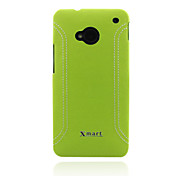 Xmart® Leather Back Cover Case For HTC One M7 Cell Phone Case (Assorted Colors)