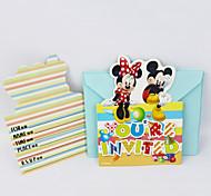 Diseny movie kid boy girl baby happy birthday party decoration kits supplies favors  invitation cards 6pcs/lot