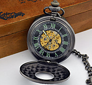 Men's Classic Antique Auto Mechanical Hollow Cover Automatic Self Winding Pocket Watch