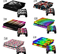 Parental Advisory Designer Vinyl Skin for Gaming PS4 Console and Free Controller Sticker Decal for PS4