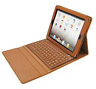DGZ for Apple iPad 234 Bluetooth Keyboard Leather Case ,Wireless Removable Bluetooth Keyboard