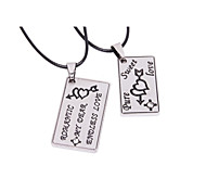 Fashion Label Alloy Pendant Necklace(A couple)