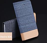Jeans-PU-Halter Handy-Tasche für HTC Desire 826 (verschiedene Farben)