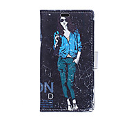 Fashion Girl Pattern Full Body Case for Sony Xperia M4