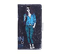 patrón de la chica de moda el caso de cuerpo completo para Samsung Galaxy Xcover 3 g388f (colores surtidos)