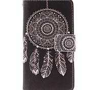белый узор Ловец снов пу кожаный чехол для всего тела с подставкой и слот для карт памяти для Nokia Lumia N630