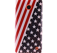 The American Flag Design TPU Soft Case for Nokia N630