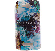 Blue Beautiful Design TPU Soft Case for Alcatel One Touch Pop C7