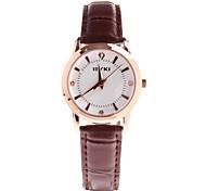 ms. disco de diamante relógio de couro banda relógio de pulso de quartzo