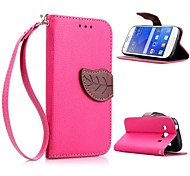 Leaf Shape TPU Case with Holder and Card Holder for Samsung G357