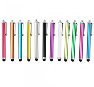 kinston® 12 x universele succes metalen stylus touch screen pen clip voor iPhone / iPad / samsung en andere