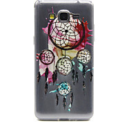 Splash-ink Dreamcatcher Pattern Ultrathin Emboss TPU Soft Back Cover Case for Samsung Galaxy Grand Prime G530