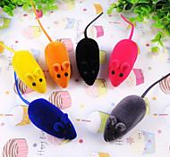 Cat / Dog Toy Pet Toys Interactive Mouse Rubber Random Color