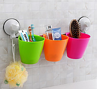 Powerful Sucker/Sucked Storage Rack/Cups With Hooks Random Color