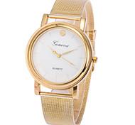 cadran rond cas montre d'alliage de montre à quartz marque de mode des femmes (plus de couleurs disponibles)