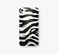 White Tiger Leopard  Grain Pattern PC Phone Case Back Cover for iPhone4/4S Case