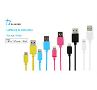 MFi Certified Lightning 8 Pin Data Sync and Charger USB Cable for iphone6 6plus 5 5c 5s ipad Assorted Colors(100cm)